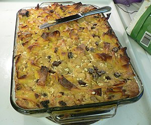 Kugel made from egg noodles