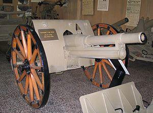 Saint-Chamond-Mondragón - Saint-Chamond 75 mm gun in the IDF History Museum.