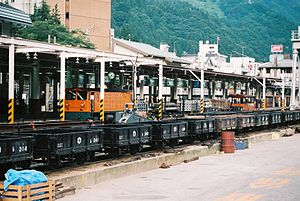 Kurobe Gorge Railway - Freight cars of the Kurobe Gorge Railway