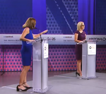 Kyrsten Sinema and Martha McSally in a debate for Senate's election of 2018.png