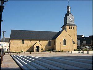 L'Huisserie - The church of Saint Siméon, in L'Huisserie