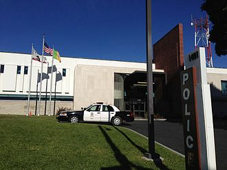 Los Angeles Police Department - The Rampart Division police station.