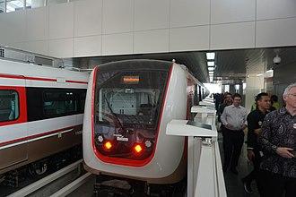 Jakarta LRT - Jakarta LRT at Boulevard Utara station