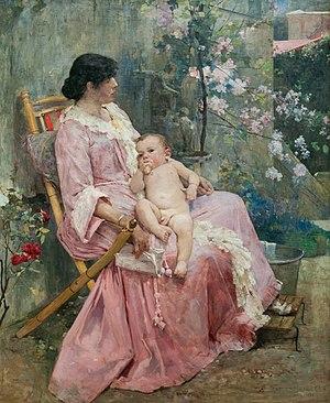 La Joven Madre 1889 by Arturo Michelena