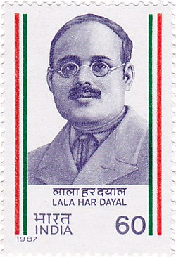 Lala Har Dayal 1987 stamp of India.jpg