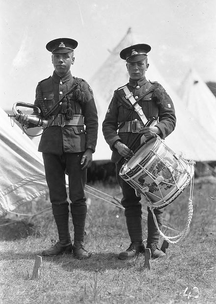 5th Battalion Drummer and Bugler. Lancashire Fusiliers 5th Bn (TA) Drummer and Bugler.jpg