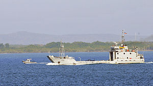 Landing craft serves as a ferry in Guantanamo.jpg