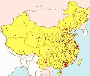 Laogai - Image: Laogai Map