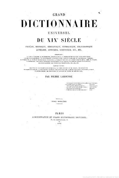 File:Larousse - Grand dictionnaire universel du XIXe siècle - Tome 12, part. 1, P-Pate.djvu