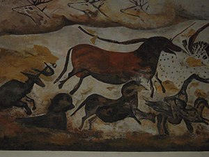 Tarpan - Replica of a horse painting from a cave in Lascaux