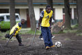 Launching of a soccer school by MONUSCO Urugayan peacekeepers in Don Bosco college Goma (14084618983).jpg