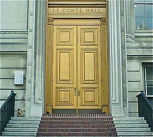 LeConte Hall - West entrance