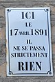 Le Havre (France) plaque nothing happened.jpg