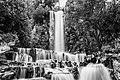 Le cascate di Villetta di Negro, esterno in bianco e nero.jpg