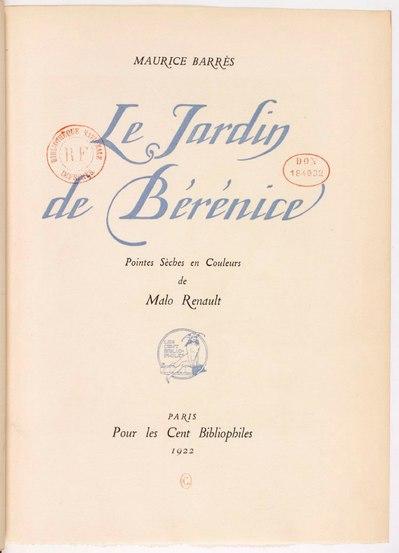 File:Le jardin de Bérénice, Maurice Barrès, ill. Malo-Renault (extrait28 p.pdf