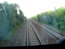 Soubor:Left-hand traffic, railway line 330 (Czech Republic, EU45 of PKP Cargo).webm