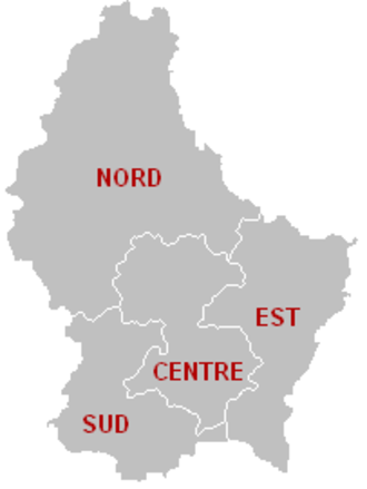 Elections in Luxembourg - The four legislative circonscriptions of Luxembourg are the constituencies for elections to the Chamber of Deputies.