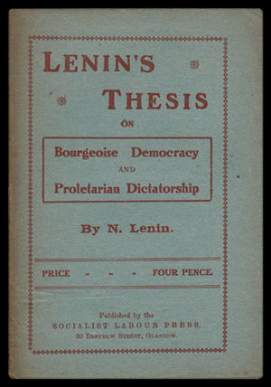 Socialist Labour Party (UK, 1903) - The SLP was inspired by the Bolshevik Revolution and lost a group of its members to the new Communist Party of Great Britain in 1920.