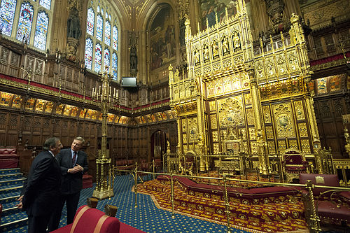 Leon Panetta given tour of the House of Lords.jpg