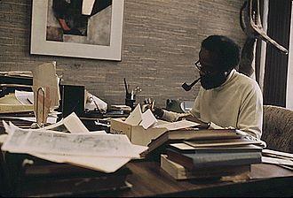 Lerone Bennett Jr. - Lerone Bennett in 1973.  Photo by John H. White.