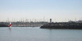 Les Minimes - Entrance to Les Minimes harbour.