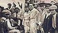 Les trois pilotes Delage vainqueurs du Grand Prix de Saint-Sébastien en 1925 (G. à D. Divo (1), Thomas (3) et Benoist (2), puis Louis Delâge).jpg