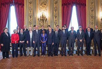 Letta Cabinet - Letta's government during the oath.