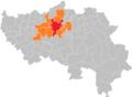 Liège agglomération Liège Belgium Map.PNG