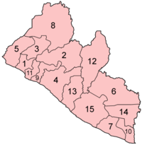 Liberia counties numbered.png