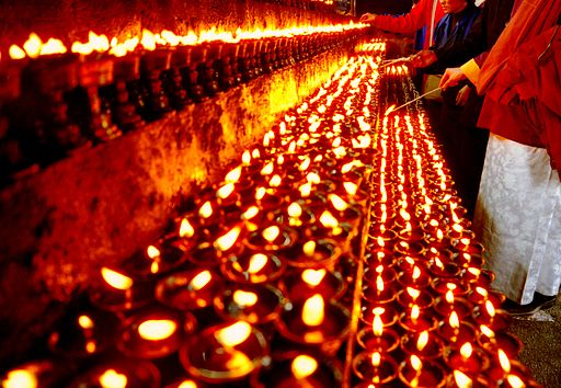 Light butter lamps