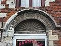Lillers (Pas-de-Calais) maison de l'argentier PA00108335, decoration porte.JPG