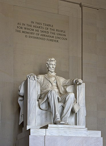 The Lincoln Memorial Statue. Would you reject the brooding,