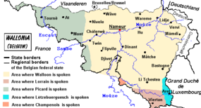 Γλωσσολογικός χάρτης της Βαλλωνίας