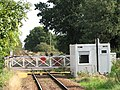 Lingwood station - signal box by level crossing - geograph.org.uk - 1497701.jpg