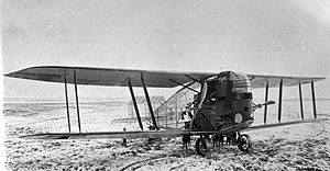 Counter-rotating propellers - World War I Linke-Hofmann R.I German heavy bomber (1917) with counter-rotating propellers