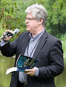 Barclay at the Eden Mills Writers' Festival in 2013