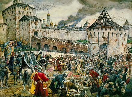 The Poles surrender the Moscow Kremlin to Prince Pozharsky in 1612. Lissner.jpg