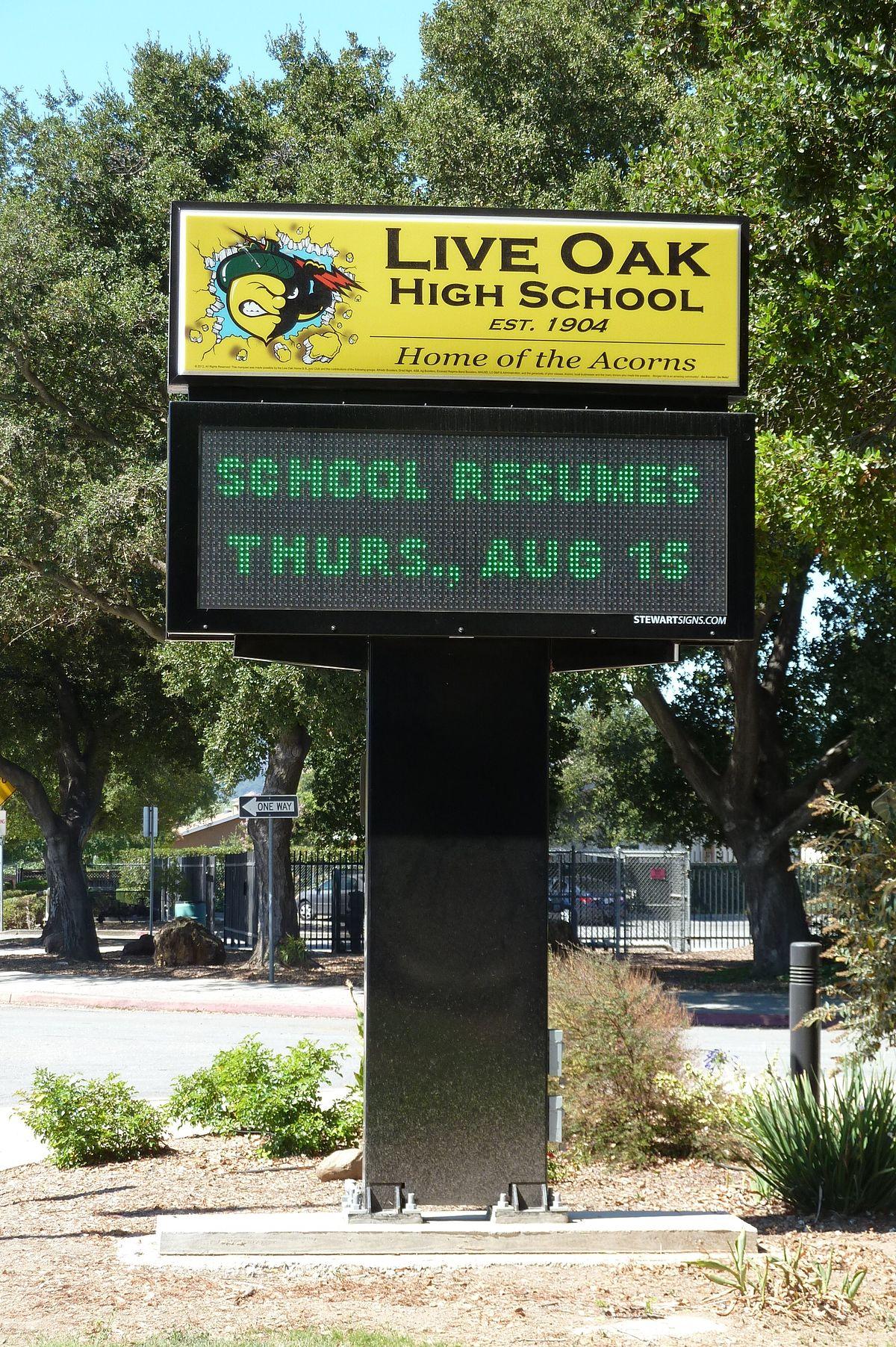 live oak high school  morgan hill  california