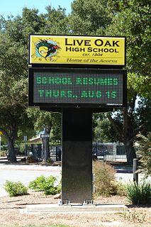 Live Oak High School (Morgan Hill, California) Public school in Morgan Hill, California, USA