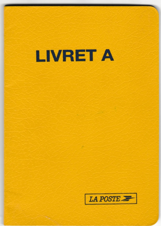 Livret A - Cover of an old Livret A.