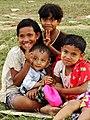 Local Kids at Riverside - H'pa-an - Myanmar (Burma) (11955012783).jpg