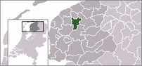 Location of Leeuwarden