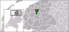 Situo de la komunumo Leeuwarden