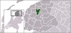 Lage von Leeuwarden in den Niederlanden