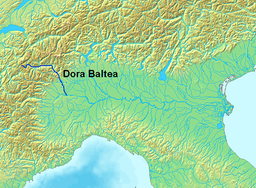 Dora Baltea location within northern Italy