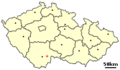Location of Czech city Trebon.png