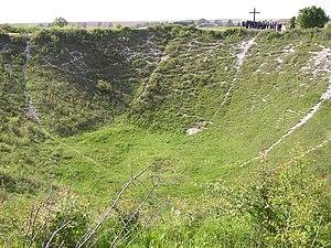 Ovillers-la-Boisselle - Image: Lochnagar Crater Ovillers