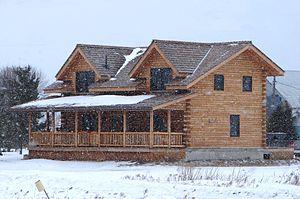 Log house - Image: Log home