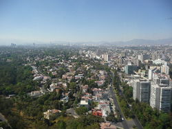 Lomas de Chapultepec facing from Periférico towards Bosques de las Lomas.