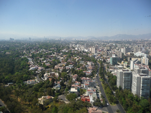 Lomas de Chapultepec - Lomas de Chapultepec facing from Periférico towards Bosques de las Lomas.